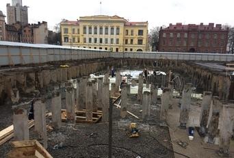Строительство жилого комплекса с подземной парковкой